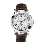 Guess Collection Men's Silver Dial Chronograph Watch