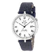 J and T Windmills Men's Sterling Silver Mechanical Watch