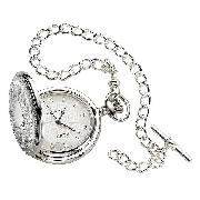 Jean Pierre Sterling Silver Full Hunter Pocket Watch