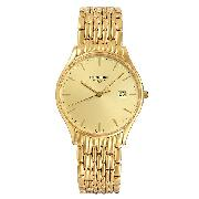 Longines Lyre Men's Gold-Plated Bracelet Watch