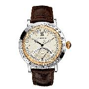 Nautica Men's Brown Leather Strap Watch