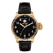 Nautica Men's Rose Gold-Plated Strap Watch