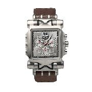 Oakley Minute Machine Men's Titanium Leather Strap Watch