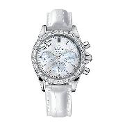 Omega De Ville Ladies' Chronograph Diamond-Set Watch
