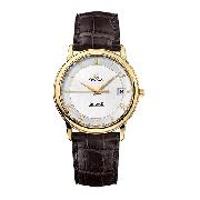 Omega De Ville Prestige Men's 18ct Gold Leather Strap Watch