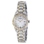 Rotary Havana Ladies' Two-Colour Crystal-Set Watch