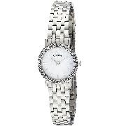 Rotary Ladies' Stainless Steel Crystal-Set Bracelet Watch