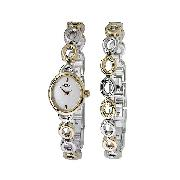 Rotary Ladies' Two-Colour Watch and Bracelet Set