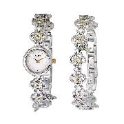 Rotary Ladies' Two-Colour Watch and Charm Bracelet Set