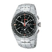 Seiko Sportura Alarm Chronograph Men's Stainless Steel Watch