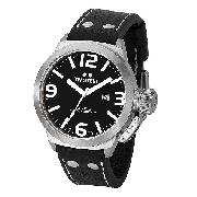 Tw Steel Canteen Style Men's 45Mm Black Leather Strap Watch