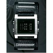Next - Black Cuff Strap Digital Watch