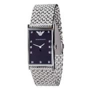 Armani Gents with Black Diamond Dot Dial