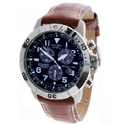 Citizen Eco-Drive Gents with Black Chronograph Dial