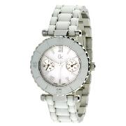 Gc Guess Collection Ladies with White Enamel Multi Dial