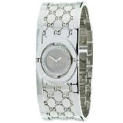 Gucci Twirl Watch, Regular Brown Dial 34 Diamonds