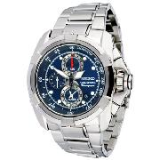 Seiko Velatura Watch with Blue Round Dial