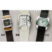 Diesel White and Blue Square Face Watch
