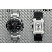 DKNY Black Square Strap Watch