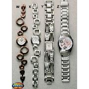 Fossil Silver Square Link Watch