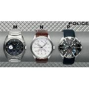 Police Navy Strap Watch